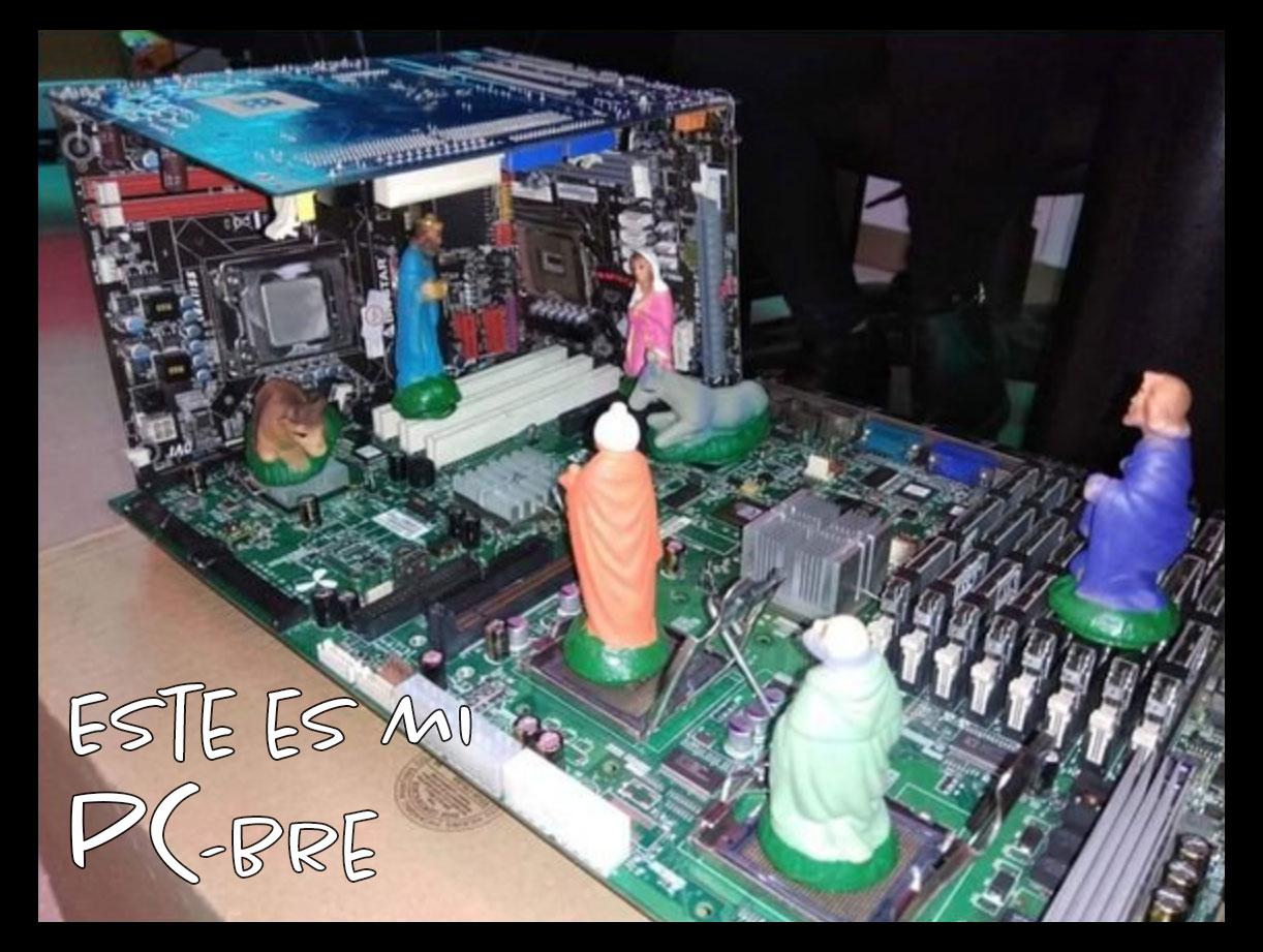 un computador con figuritas PC-bre