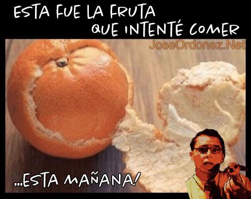 Meme de mala suerte mandarina
