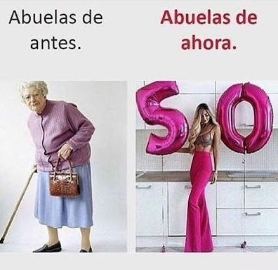 Meme abuelas de antes