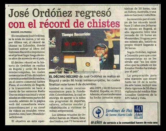 Periodico el mundo record 86 horas