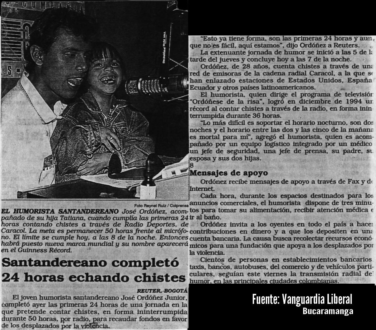 Vanguardia 4to record