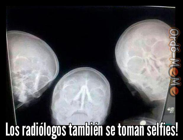 Meme selfie radiologos