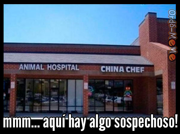 Meme Restaurante sospechoso