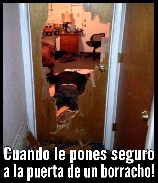 Meme puerta de un borracho