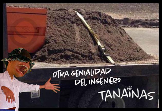 Meme ingeniero Tanainas que carga tierra
