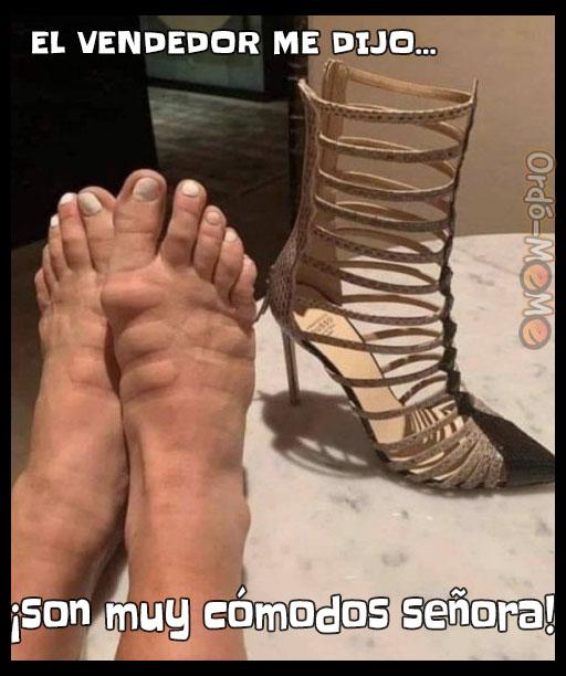 Meme zapatos comodos