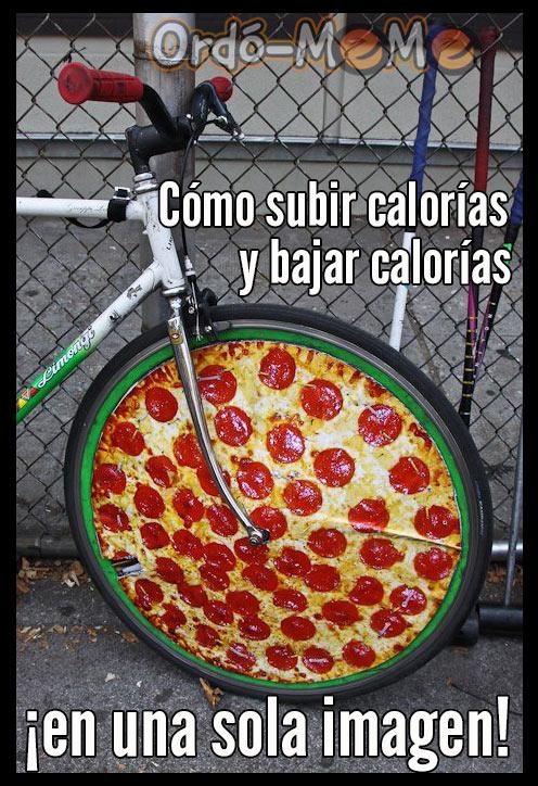 Meme subir y bajar calorías