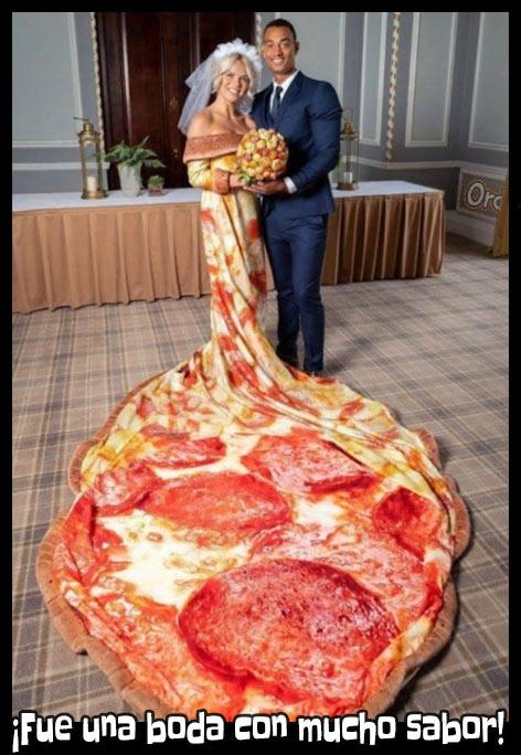 Meme de pizza boda con sabor