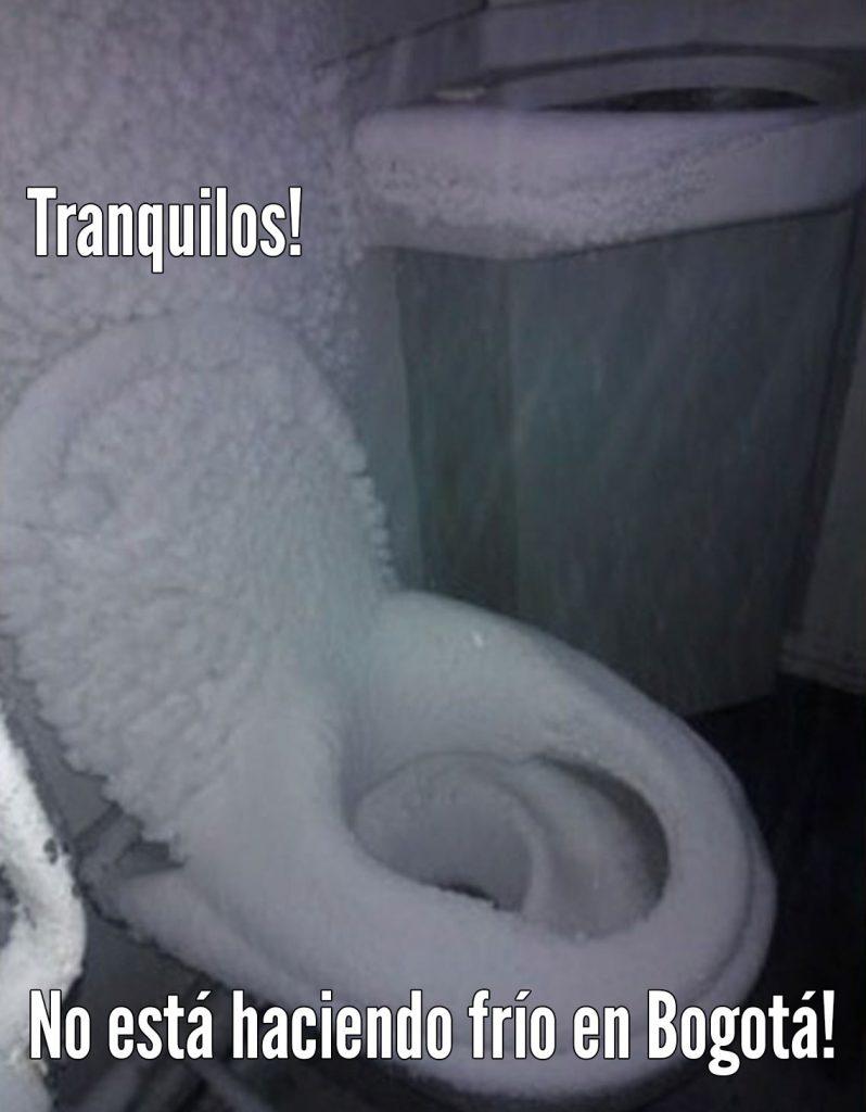 Meme frío en Bogotá