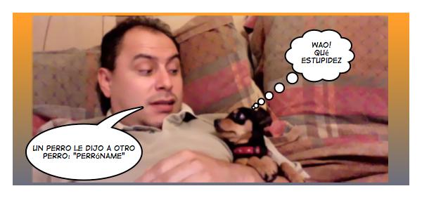 jose ordoñez con un perro pequeño al lado derecho
