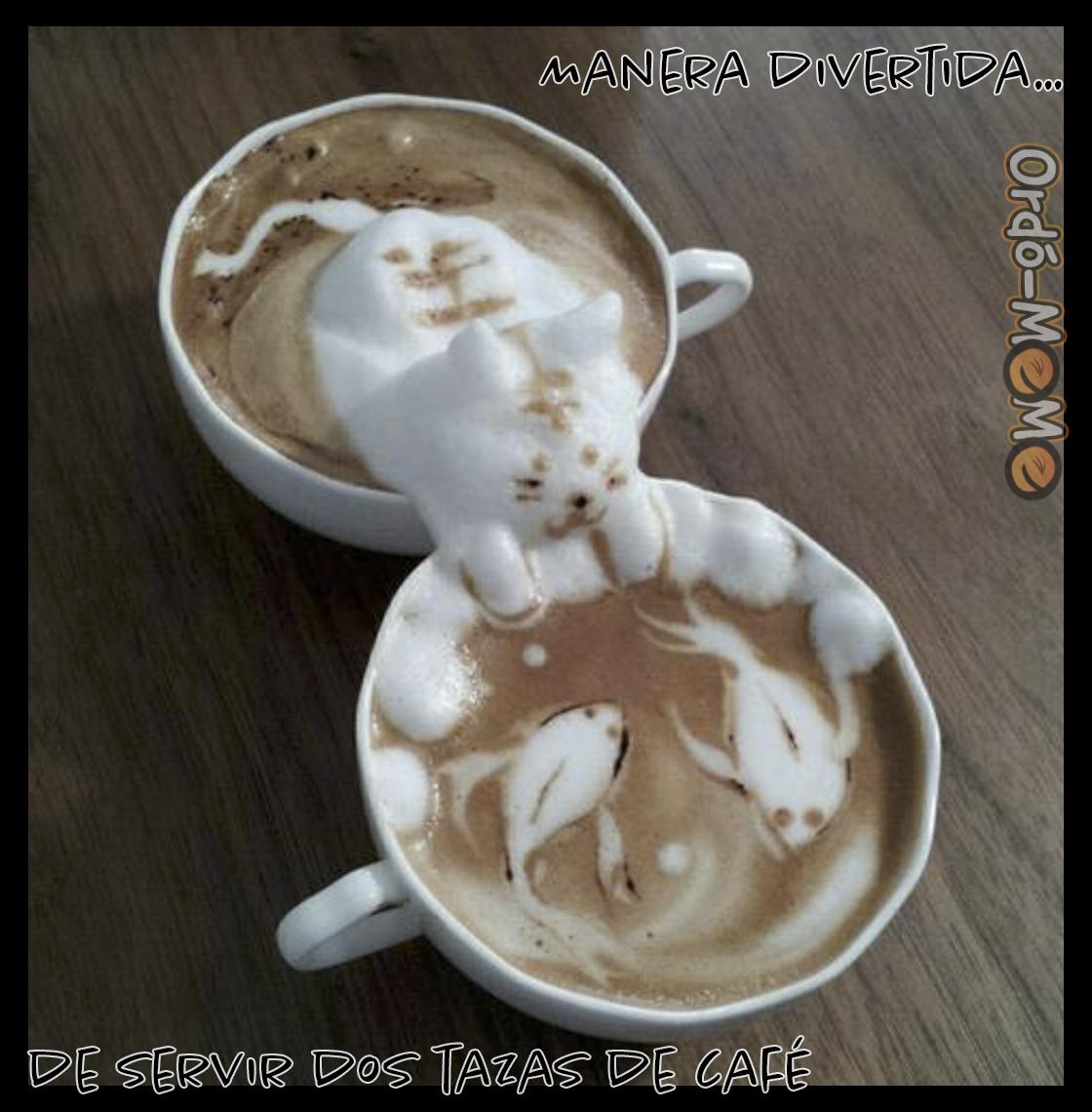 Meme dos tazas de café