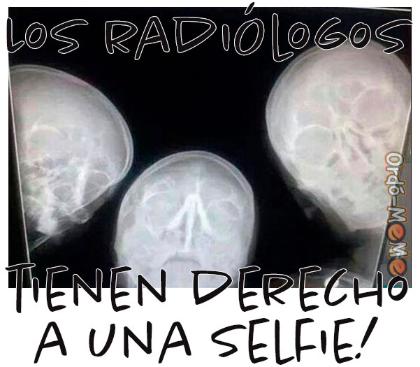 Meme selfie radiólogos