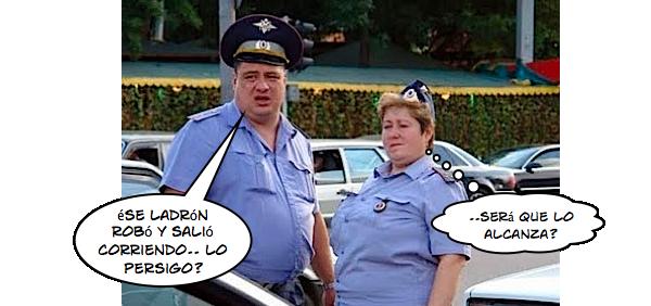 Meme policías perezosos