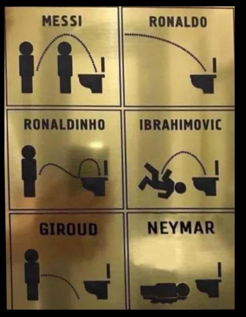 Meme de fútbol baños según los jugadores