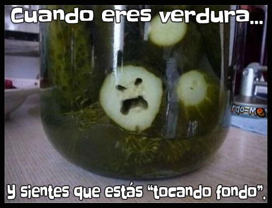 Meme verdura tocando fondo
