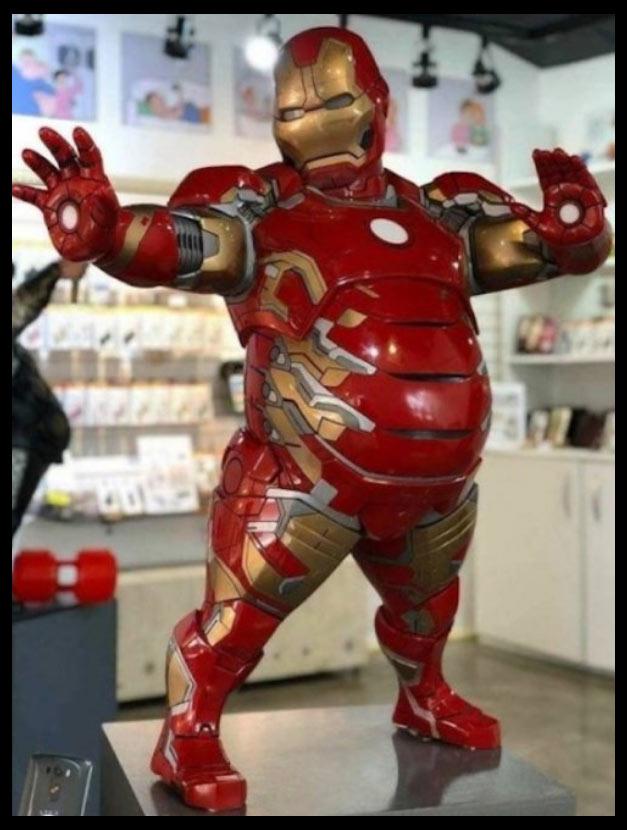 Meme Iron man gordo