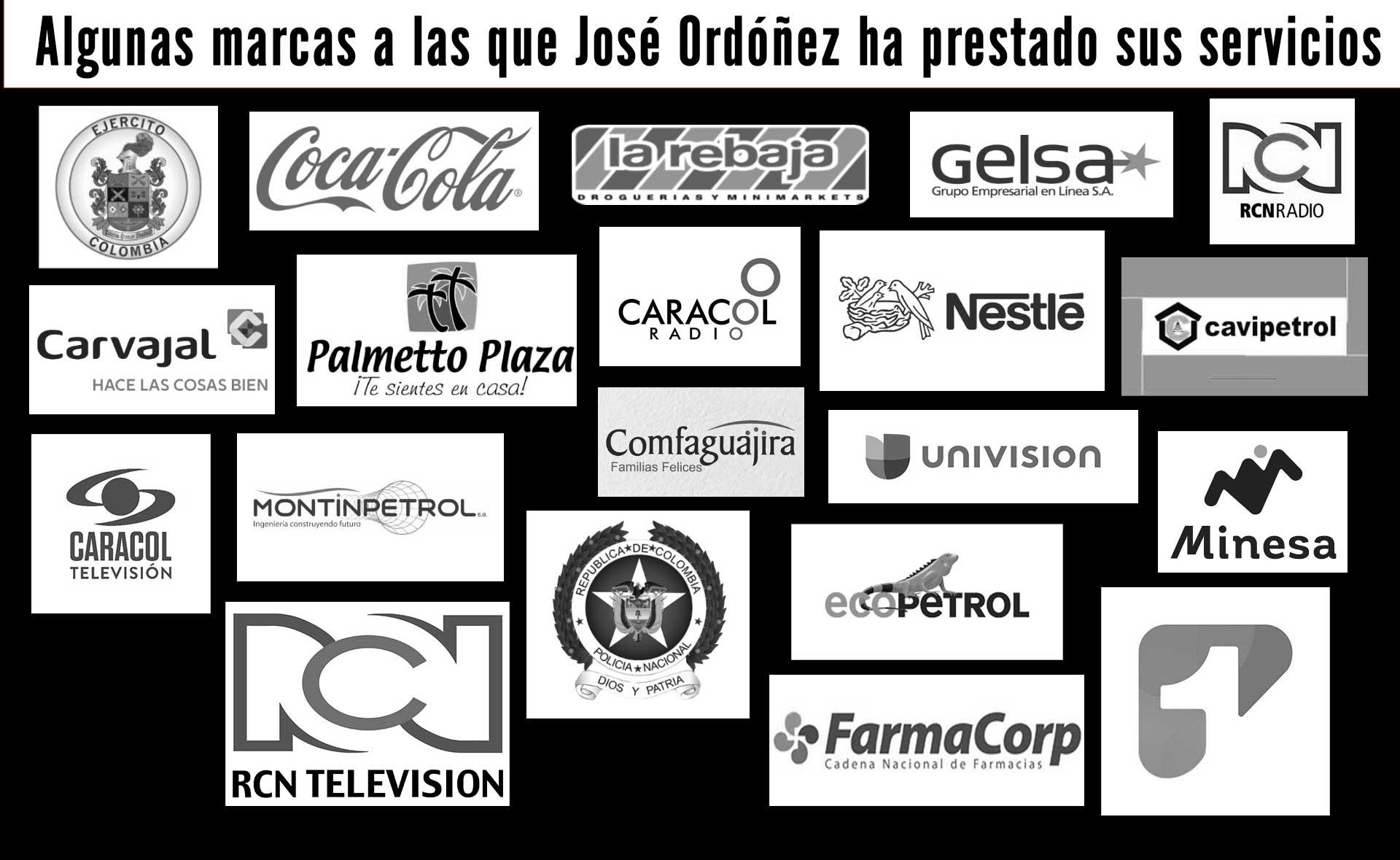 marcas que han contratado a José Ordóñez