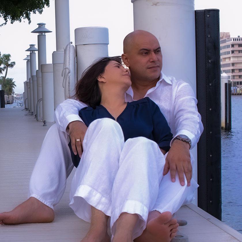 José y Yasmith en el puerto de Miami